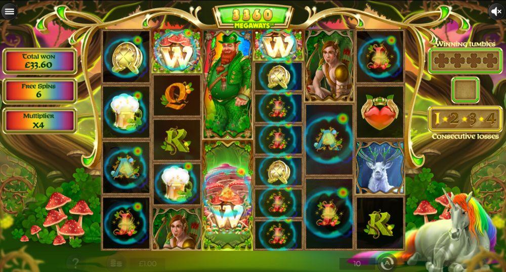 rainbow wild slot megaways by 1x2