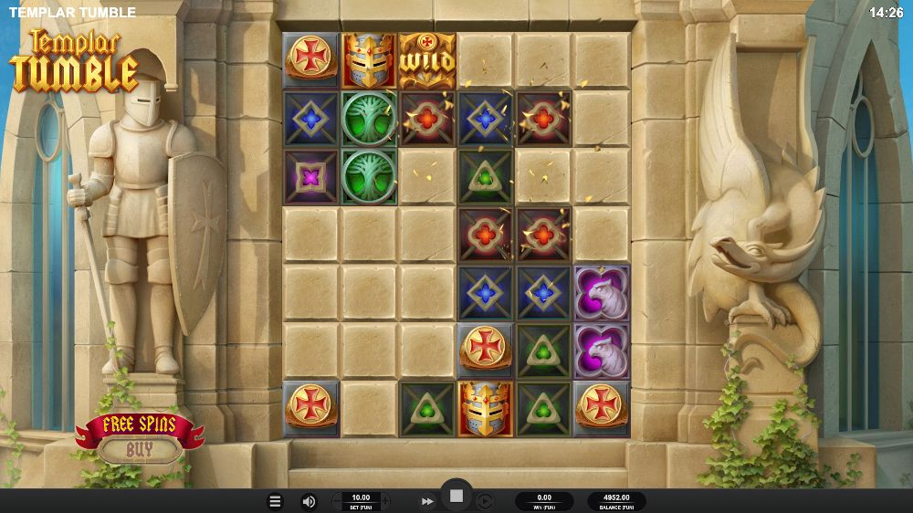 templar tumble slot by relax gaming