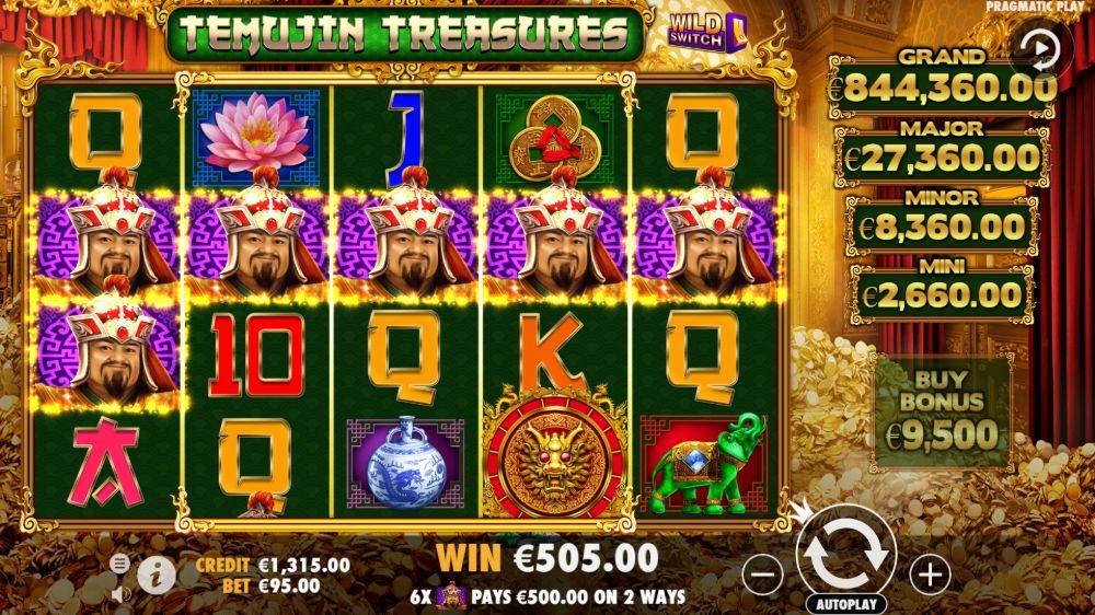 temujin treasure slot by pragmatic play