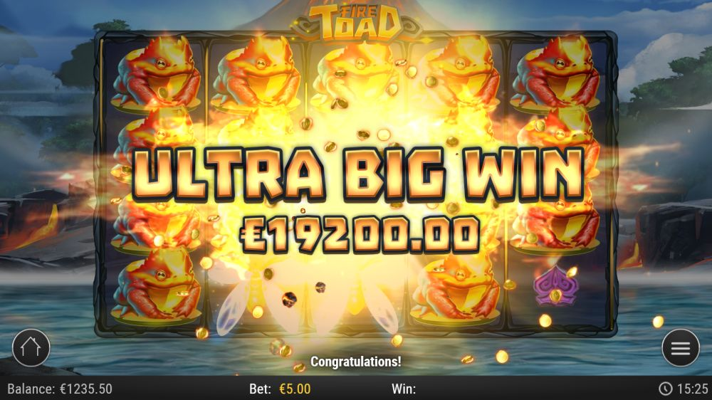 fire toad slot by play n go