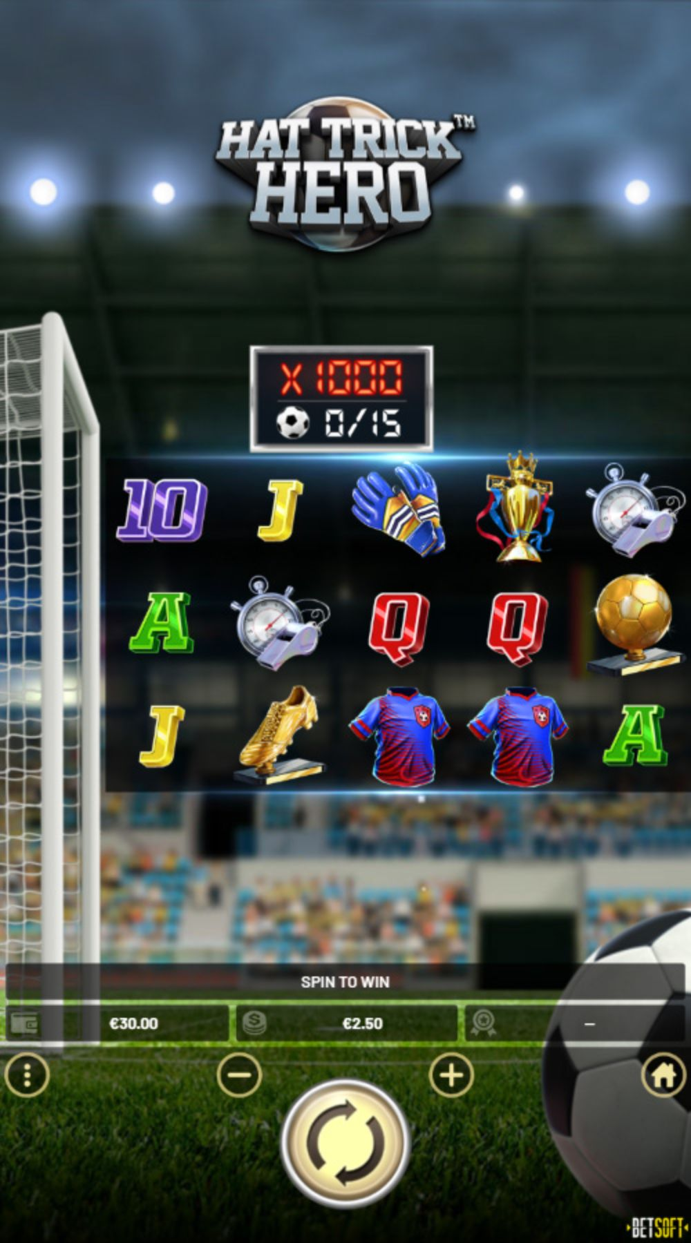 hat trick hero slot by betsoft