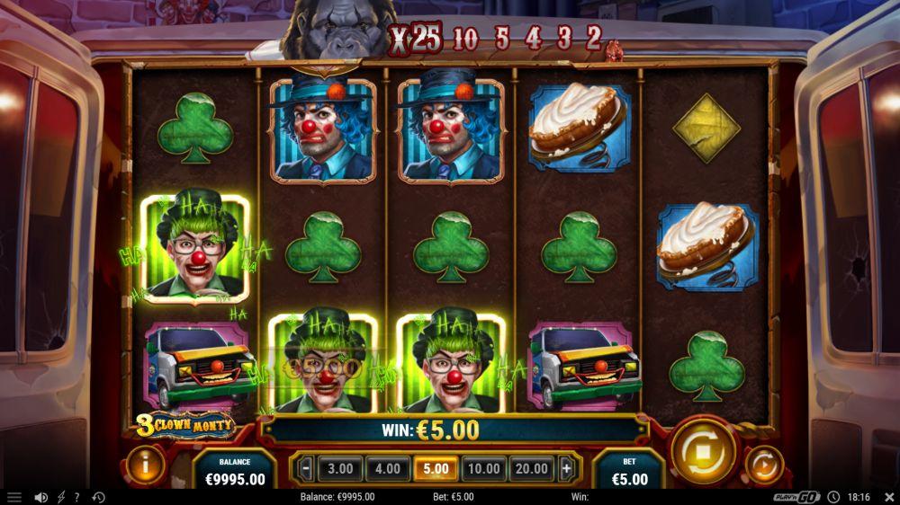 3 clown monty dlot by play n go