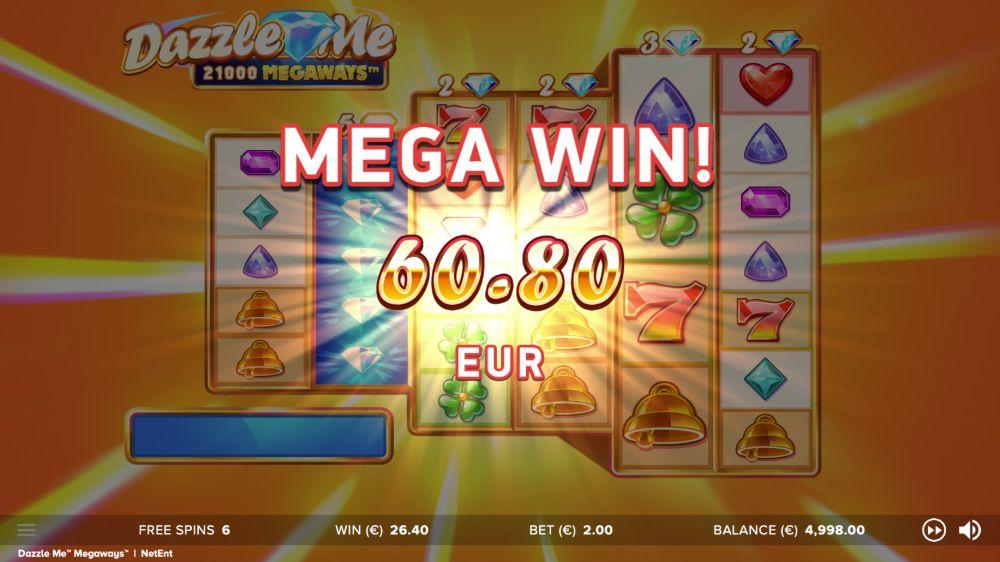 Dazzle me Megaways slot by Netent