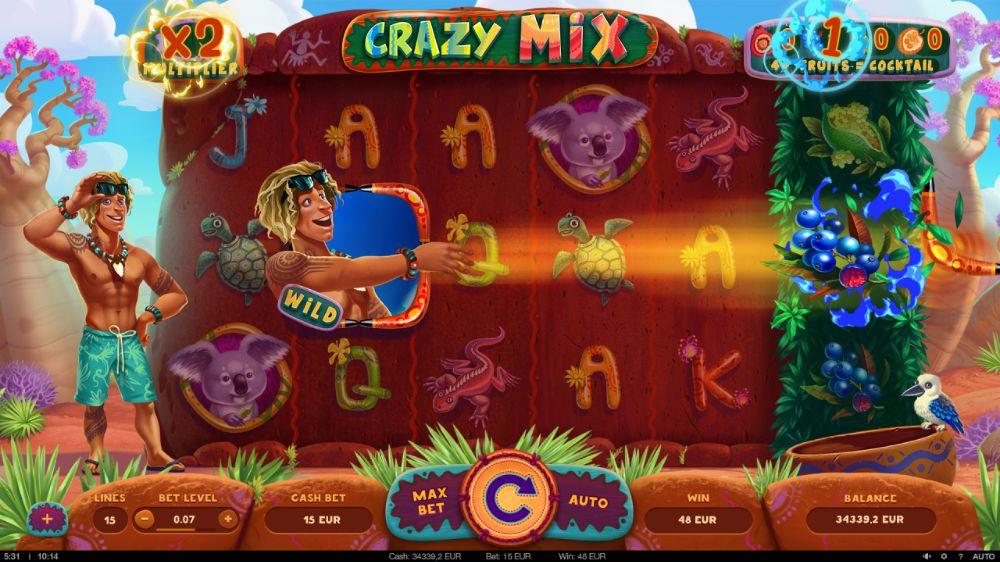 crazy mix slot by yggdrasil