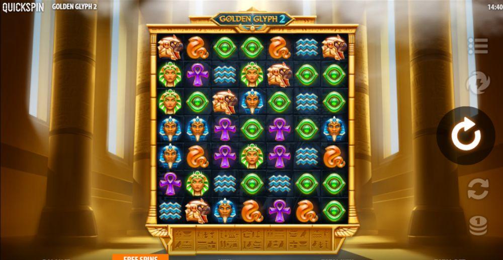golden glyph 2 slot by quickspin