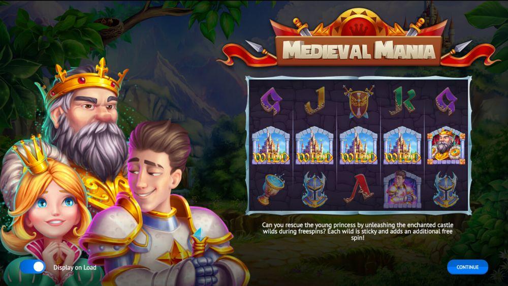 medievil mania slot by 1x2 gaming