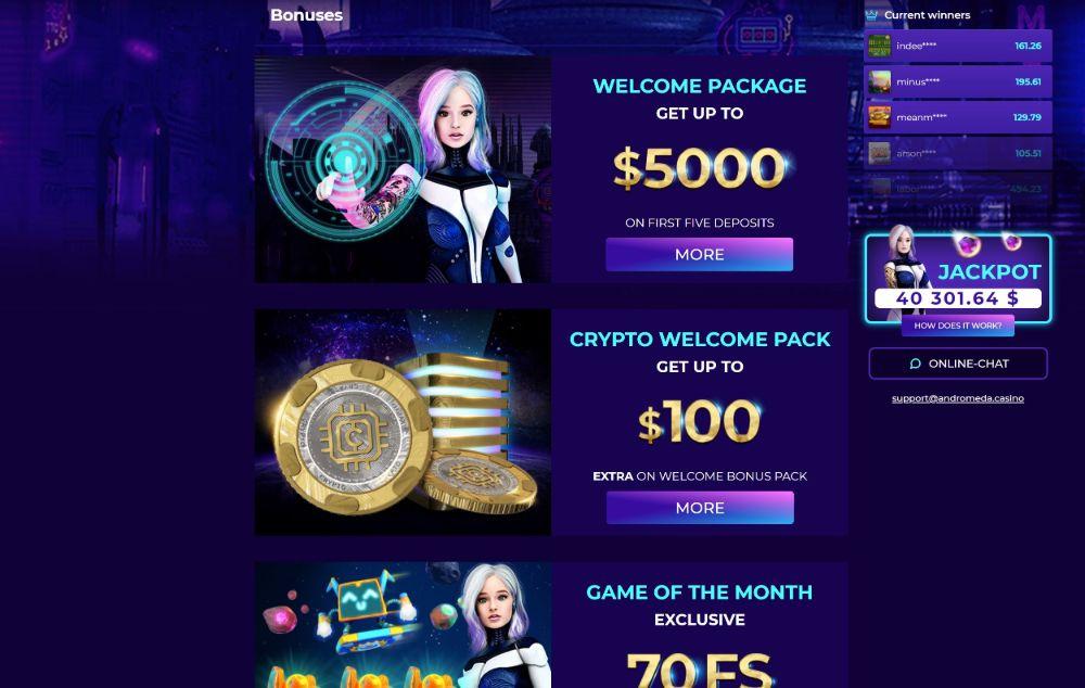 andromeda casino bonuses