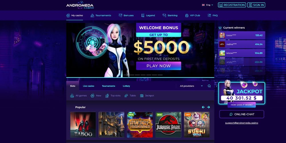 homepage for andromeda casino
