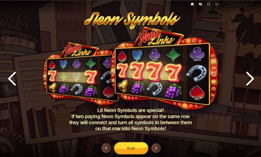 neon links slot by red tiger