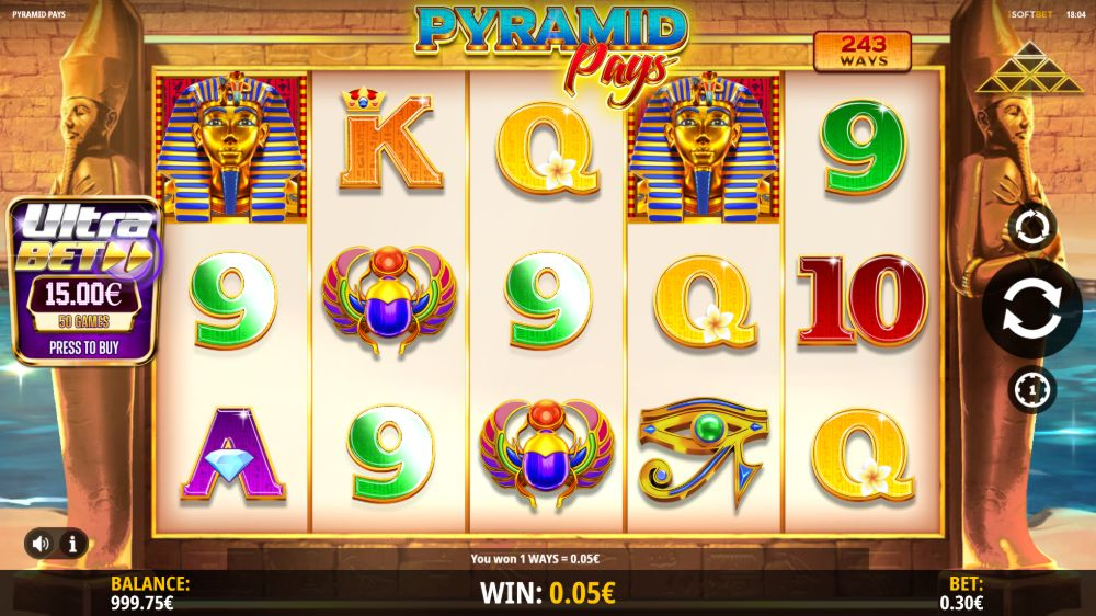pyramid pays slot by isoftbet