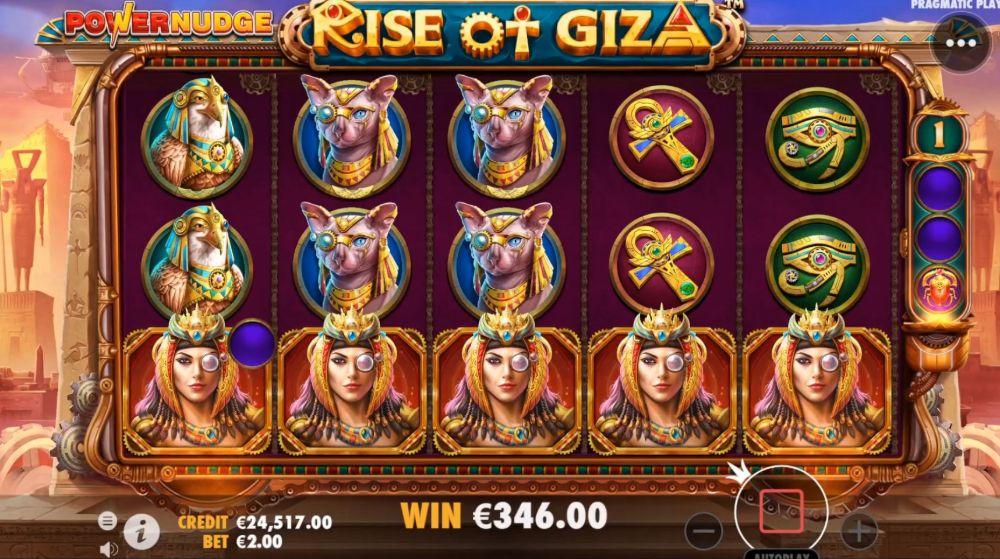rise of giza power nudge slot