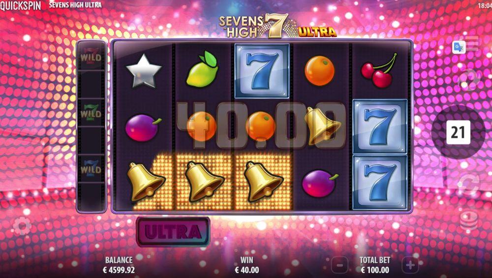 sevens high ultra slot by quickspin