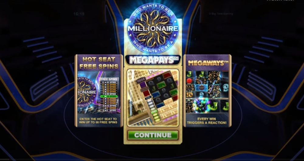who wants to be a millioanire megapays slot by big time gaming