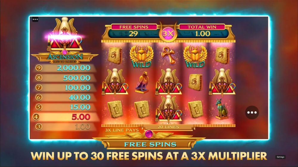 acension rise to riches slot by microgaming