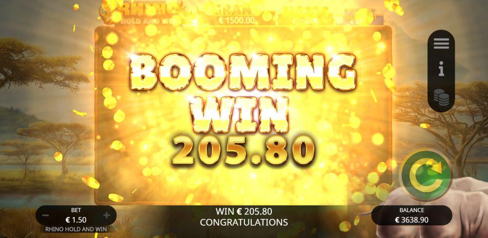 rhino hold and win slot