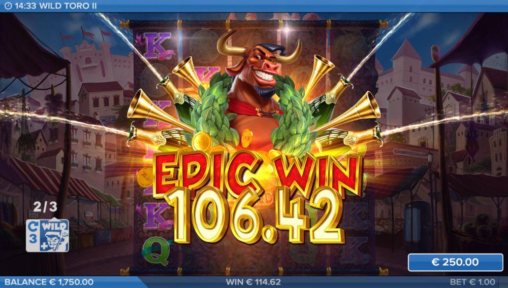 wild toro 2 slot by elk studios