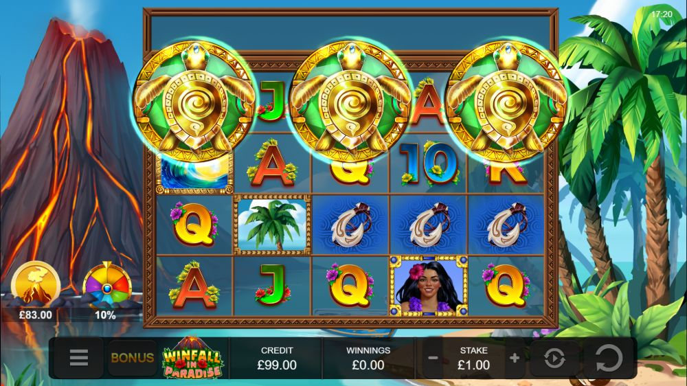 winfall in paradise slot by yggdrasil